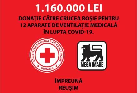 COVID-19: Mega Image donează 1.160.000 de lei pentru achiziția a 12 echipamente de ventilație medicală și reduce prețurile la alimente de bază