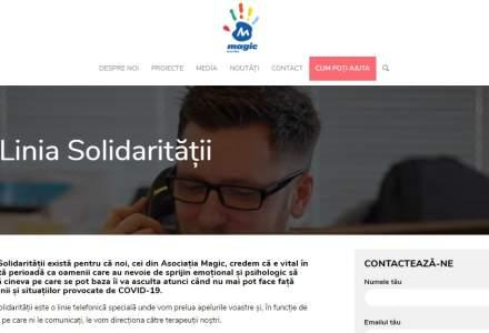 Asociaţia Magic implementează Linia Solidarităţii - platformă gratuită de consiliere psihologică, medicală şi suport