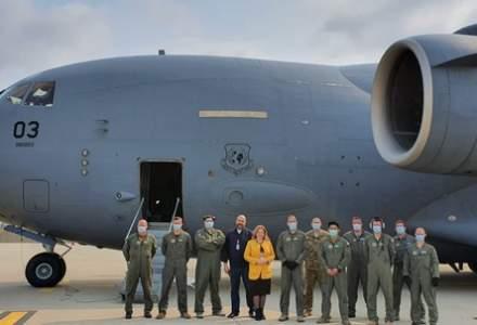 Al treilea transport aerian cu echipamente medicale din Coreea de Sud a aterizat pe Aeroportul Otopeni