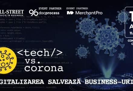 Conferința online Tech vs corona: cum ne ajută tehnologia să facem față pandemiei