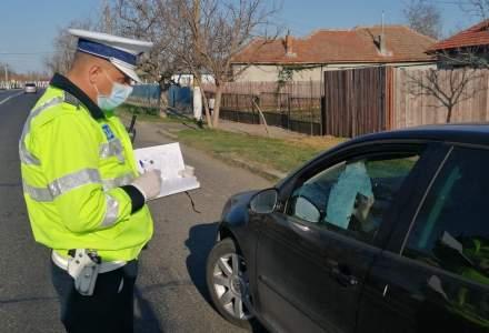 Poliția Română a aplicat 8.600 de amenzi, în ultimele 24 de ore, în valoare totală de 19 milioane de lei, pentru încălcarea restricţiilor de circulaţie