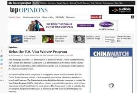 Patru fosti ambasadori americani in Romania au cerut in Washington Post ca romanii sa mearga fara viza in SUA