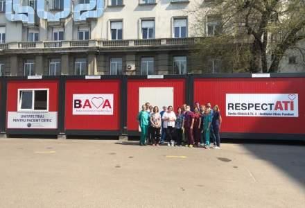 FOTO/VIDEO Spital de triaj construit în timp record la Fundeni, din donații strânse de medici