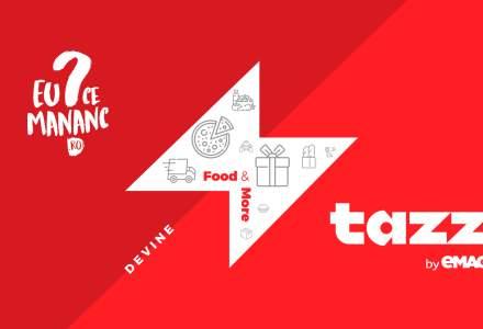 Platforma EuCeMananc devine Tazz by eMAG și extinde livrarea într-o oră cu produse alimentare și pentru casăde la Mega Image, Dr. Max, Sensiblu și dm drogerie markt