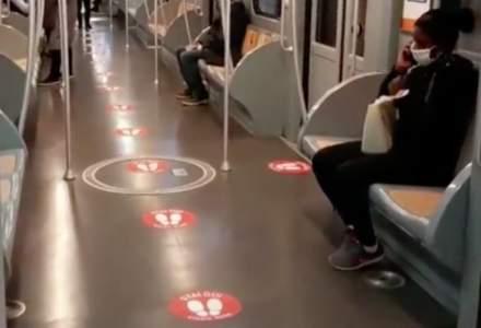 Măsuri luate în Italia pentru a asigura distanța în metrou între călători