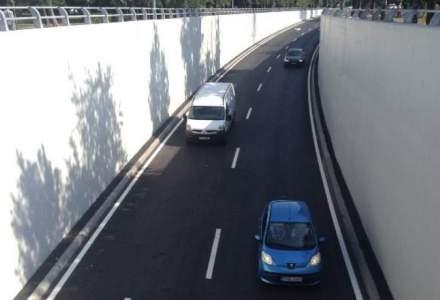Circulație rutieră restricționată în București la Pasajul subteran Băneasa