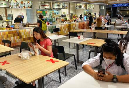 FOTO | Occidentul învață de la asiatici. Cum vor arăta restaurantele după eliminarea restricțiilor