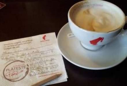 """Cum poti bea doar astazi cafea """"aproape gratis"""": clientii Julius Meinl isi pot plati cafeaua cu poezii"""