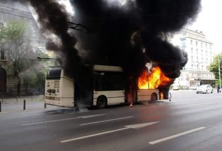 Troleibuzele din Capitală, verificate după incendiul de duminică