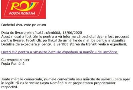 CERT-RO avertizează asupra unor campanii de malware ce folosesc imaginea Poștei Române