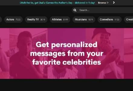 Cameo, start-up-ul care îți ia sute de dolari pentru o conversație de 10 minute cu celebritățile