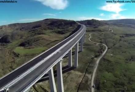 VIDEO: Cum arata cel mai mare viaduct construit in Romania, pe autostrada Sibiu-Nadlac