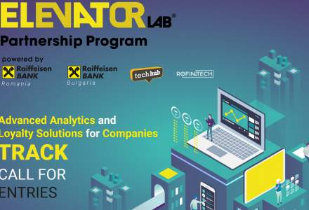 Elevator Lab 2020: Nu rata înscrierea în programul de parteneriat dezvoltat de grupul Raiffeisen, care va finanța în acest an dezvoltarea unui proiect FinTech pentru clienții din 14 țări