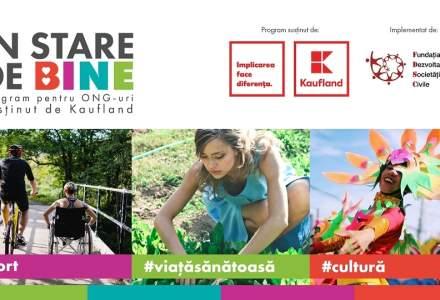 În stare de bine:Kaufland România oferă finanțare de peste 450.000 euro pentru proiectele organizațiilor neguvernamentale