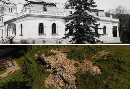Castelul Bay din Treznea s-a prăbuşit în totalitate, după ce a fost scos de pe lista monumentelor istorice