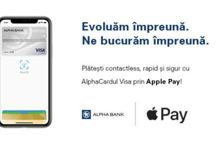 Alpha Bank lansează Apple Pay: cliențili cu carduri Visa își pot înrola de astăzi cardul în portofelul digital