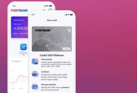 First Bank lansează o nouă aplicație de mobile banking, care permite deschiderea unui cont 100% online