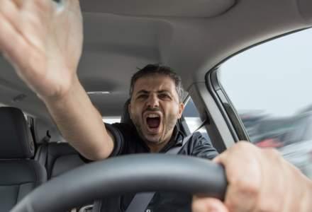 Fii treaz la volan: un șofer din zece devine furios în trafic