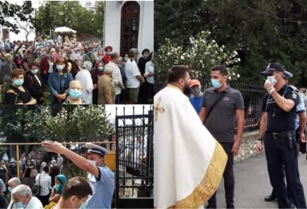 VIDEO Sute de oameni s-au înghesuit la o biserică pentru a primi pachete