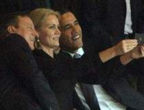 Selfie inedit al lui Obama la...