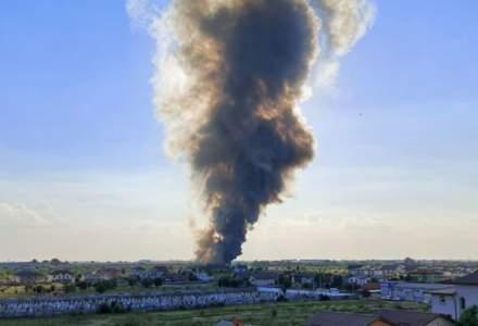NEWS ALERT: Incendiu puternic la Bragadiru