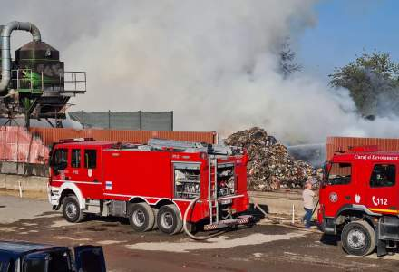 Incendiu puternic lângă București: s-a emis mesaj RO-ALERT