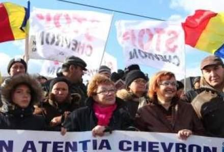 Greva foamei la Pungesti de Sarbatori: localnicii continua lupta cu Chevron