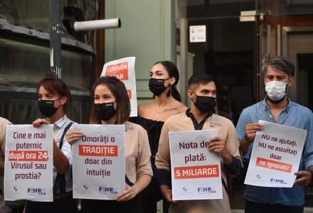PROTEST: Angajații din HoReCa și-au suspendat activitatea timp de o oră