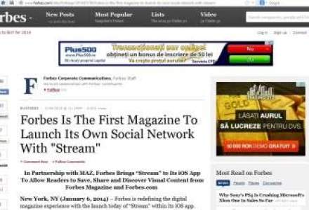 Revista Forbes lanseaza Stream, propria retea de socializare