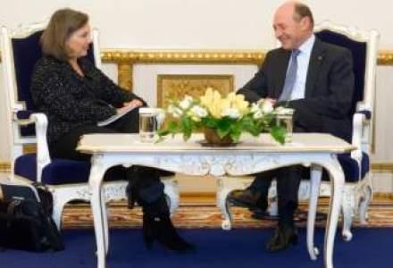 Basescu s-a intalnit cu oficialul american Victoria Nuland: Sper ca micile neintelegeri nu vor afecta relatiile noastre