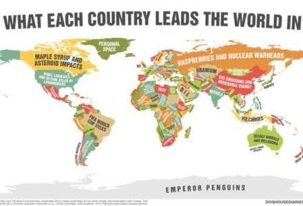 Harta care arata la ce este priceputa fiecare tara din lume. Stiai asta despre Romania?