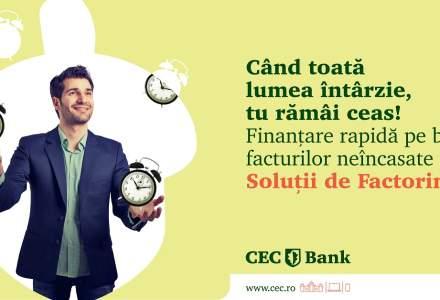 (P) CEC Bank îți oferă un produs care-ți permite să încasezi în avans facturile