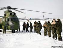 Militarii intervin pentru...
