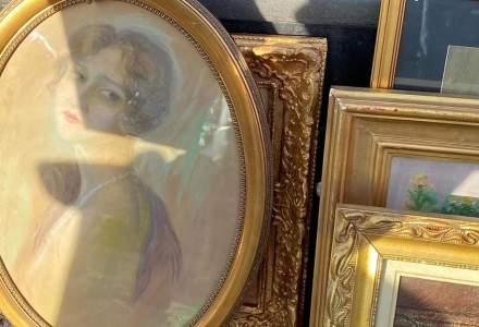 FOTO | Ce picturi au confiscat polițiștii din Sectorul 6. Operele datează din a doua jumătate a secolului al XIX-lea