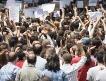 Protest al pensionarilor la...