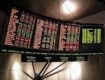 Bursa inchide pe verde, pe...
