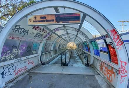 Trotuarul rulant din Gara de Nord a fost distrus după ce aproape 8 ani a funcționat perioade scurte de timp