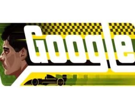 Ayrton Senna, campion mondial de Formula 1, aniversat de Google cu un logo special