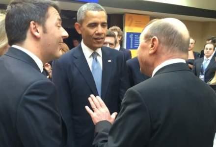 FOTO Dialog intre Traian Basescu si Barack Obama, la Summitul Securitatii Nucleare de la Haga