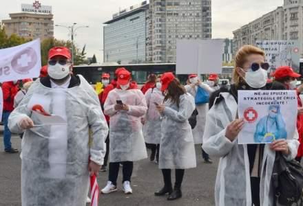 Federația Solidaritatea Sanitară continuă seria protestelor în Piața Victoriei