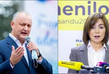 Luptă strânsă între Maia Sandu și Igor Dodon pentru președinția Republicii Moldova