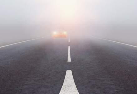 ANM a emis un cod galben de ceață în mai multe județe din România