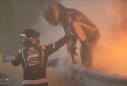 VIDEO Incident teribil în Formula 1: o mașină a luat foc chiar în startul cursei