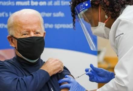 Joe Biden va primi luni a doua doză de vaccin anti-COVID-19