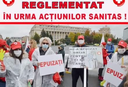 Sindicatele din Sănătate protestează față de înghețarea salariilor bugetarilor