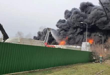 [VIDEO] Incendiu puternic în Buzău