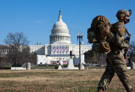 Tabloul unui oraș împânzit de militari, în ziua în care Joe Biden devine președinte al SUA