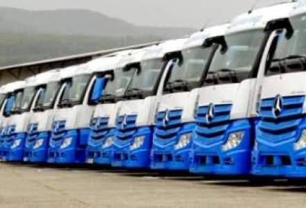 Transporturi rutiere de marfuri: peste 15% din firme si-au incetat activitatea in 2013