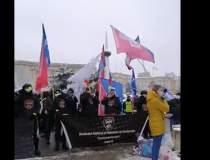 Protest împotriva înghețării...