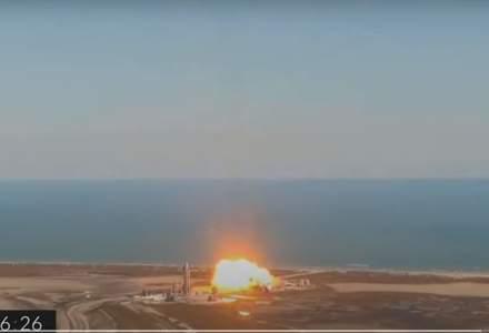 Un prototip de rachetă aparținând SpaceX a explodat în timpul unei tentative de aterizare